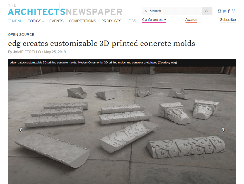 The Architects Newspaper EDG Modern Ornamental 3D Printing